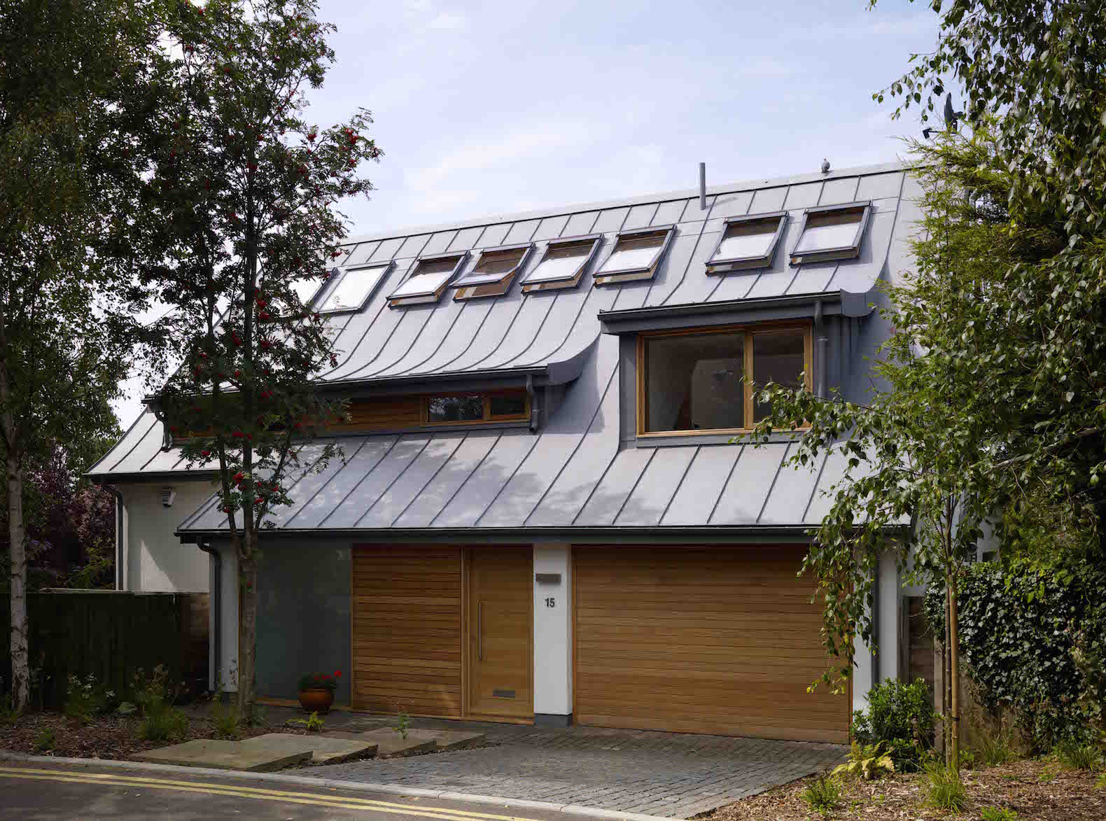 "Recycled Materials, Architecture, ""sustainable architecture"", Solar Power, solar panels, green architecture, carbon footprint, skylights, Zero Carbon, passive solar, rainwater collection, RIBA, biomass boiler, Gallery, carousel showcase, glazing, airtight, zero carbon house, Green Building, Lloyd House, Koru Architects, carbon dioxide equivalent, wood chip, dual flush"