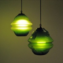 Poetic Odyssey Suspension Light Made from Recycled Glass Bottles