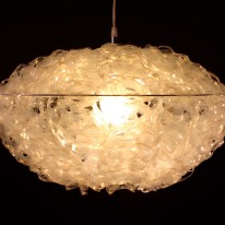 Six Pack Rings Upcycled Into 165 Helianthus Pendant Light