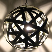 Beautiful Orbits Lamps Re-Fashion Discarded Wine Barrel Steel Bands
