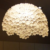 """Ella"" Plastic Bottle Chandelier"