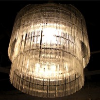 Shiny Chandelier Made From Hundreds of Upcycled Coffee Spoons