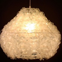 "Upcycled Six-Pack Ring ""189 Allium Pendant Light"""