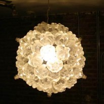 Bubble Chandelier Made With Sixty Plastic Bottles Shines Bright