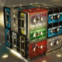 Cassette Tapes Reborn as a Clever Box Lamp