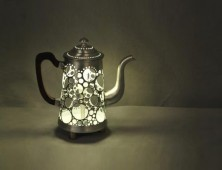 Glowing Schilthorn Transforms an Old Coffee Pot Into a Lamp