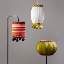 "Retro Lights Knitted into Colorful ""Uplifted"" Lampshades"