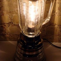 Vintage Broken Blenders Turned into Lamps