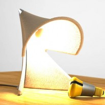 Conical Task Lamp Made From Recycled Paper Pulp