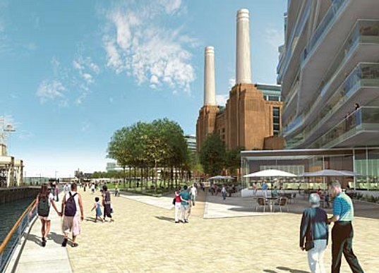 battersea power plant, battersea station, london, UK, eco renovation, eco upgrade, eco-upgrade, power plant, renewable energy, multi-use development, carbon neutral