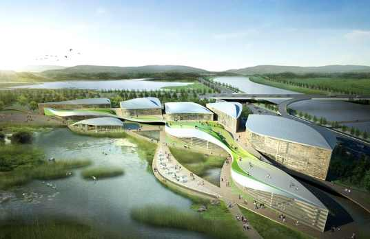 Green Roofed Suncheon Wetlands Center Flows With The Tides