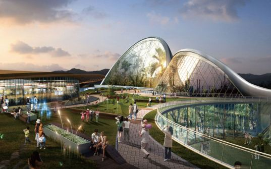 the ecorium project, ecorium project, eden project, national ecological institute, south korea, SAMOO, nature reserve, educational center, open space, greenhouses