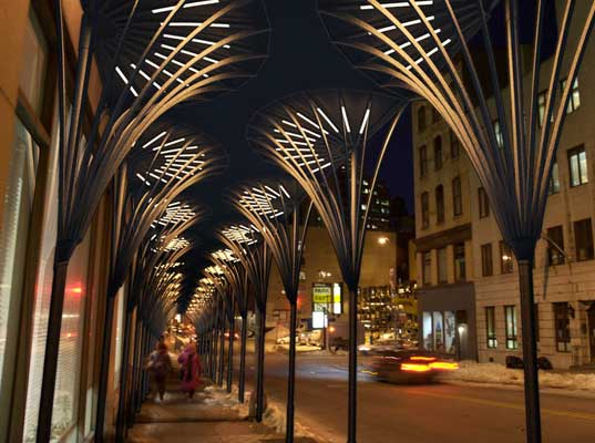 Urban Umbrellas To Replace Nyc Sidewalk Sheds Inhabitat