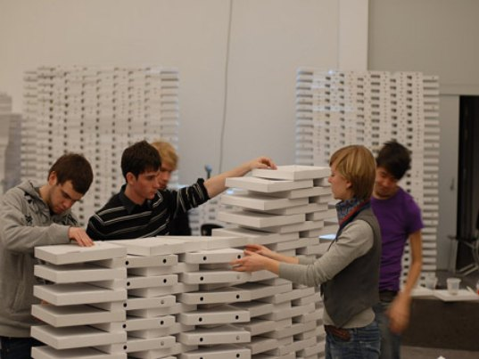eco design, green design, sustainable design, pizza boxes, booth generator, imm cologne, germany
