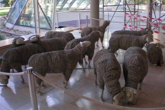 FRANKFURT, jean luc cornec, phone sheep, phonehead sheep, repurposed phones, telephone sheep