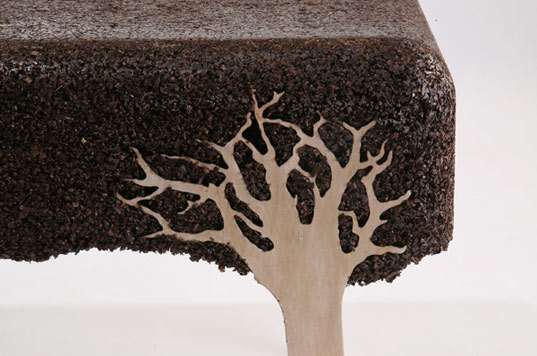 Beautiful Coffee Table Crafted From Sawdust Scraps