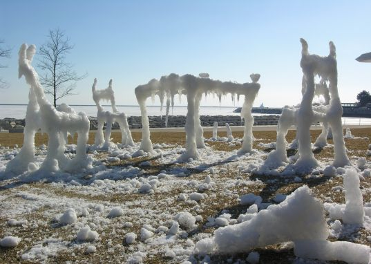 Drawing Ice Water From Lake Michigan With A Bucket On A Rope, Zhou Set Out  To Create His Droopy Drippy Furniture. But As The Artist Quickly Realized  In ...