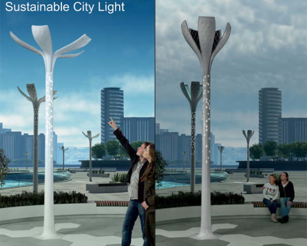 Solar Flower Petal Street Lamps Bloom by Day, Illuminate the Night