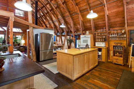 Old Dairy Barn Converted Into An Eco Home Filled With