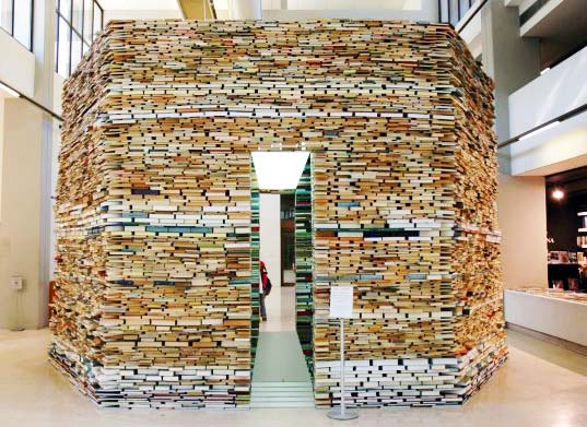Book Cell Octagonal Building Made Entirely From Books