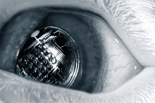 Solar Powered Augmented Contact Lenses Cover Your Eye with 100s of LEDs