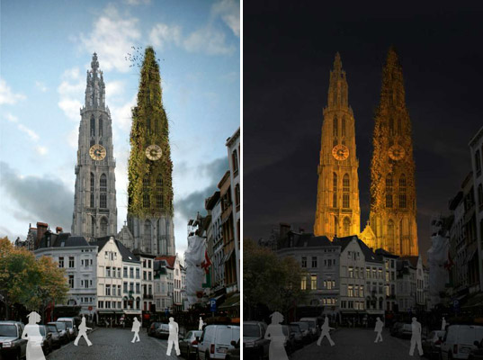 sustainable design, green design, green renovation, sustainable architecture, Designing the Absent, Desgining the Absent Entries, Belgium, Antwerp, Eco-buildings, Eco-Cathedrals, Cathedral Rennovations, Eco-Churches, Belgium Architecture