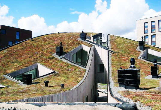 green roof, living roof, apartment building, amsterdam, nl architects, sustainable design, green design, green building, sustainable architecture
