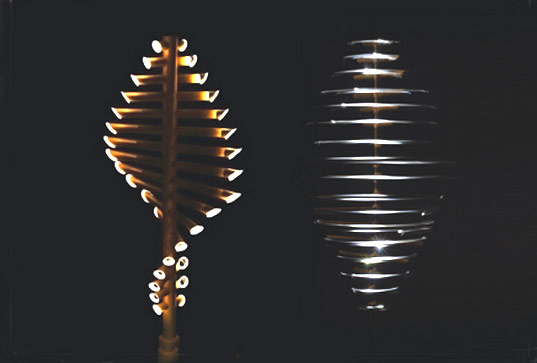 Beautiful Bamboo Flow Lights Are Ed By The Wind