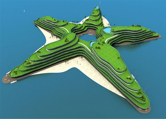 Waterstudio Nl S Floating Star Shaped Resort Islands For The