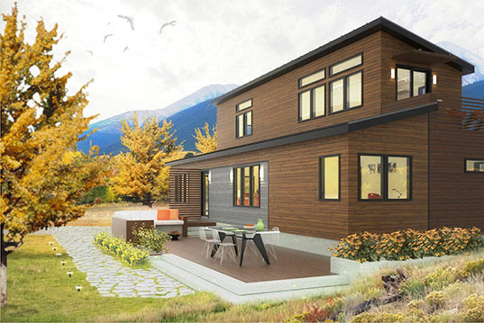 Blu homes releases plans for their two story prefab home for Building a two story house