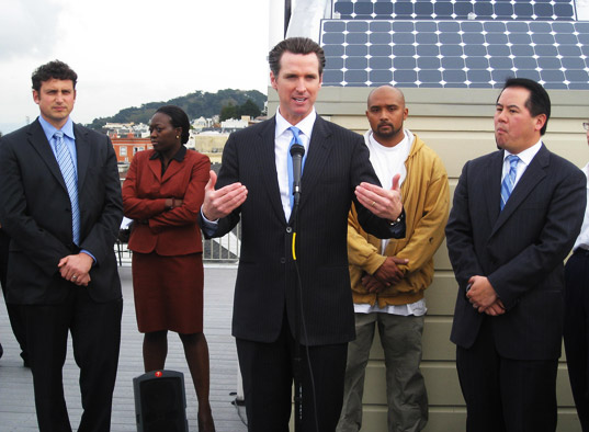 solar, geothermal, energy efficiency, san francisco, sf, greenfinancesf, gavin newsom, green design