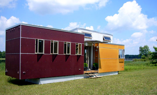 Stay in Lloyd's Prefabulous Sustain Mini Home at the Timber House Eco Resort in Ontario