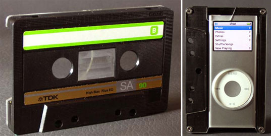 45 nano, recycled cassette, nano case, ipod case, recycled electronic case, green stocking stuffers