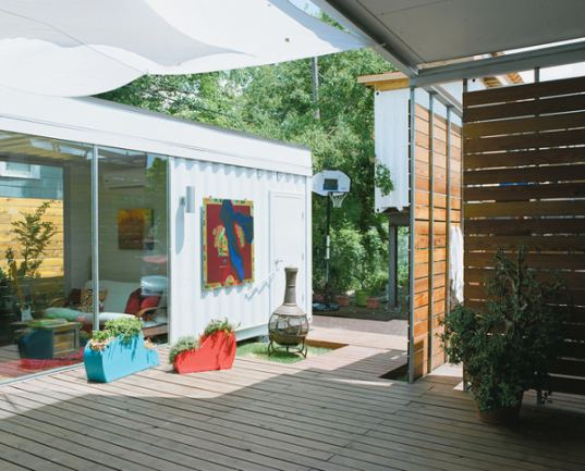 Modern, Colorful and Creative Shipping Container Home in Houston ...