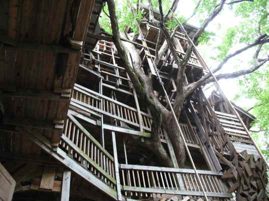 Biggest Treehouse In The World 2013 world's tallest treehouse built from reclaimed wood | inhabitat