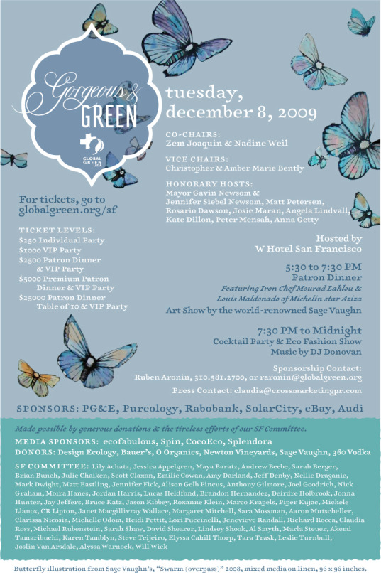 Fifth Annual Gorgeous & Green Benefit in San Francisco