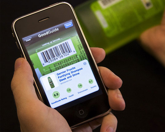sustainable design, green design, iphone application, barcode scanner, green technology, GoodGuide iPhone App