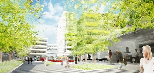 eco towers, hamburg, greeen! architects, eco city, gardens, green roofs, office building, g