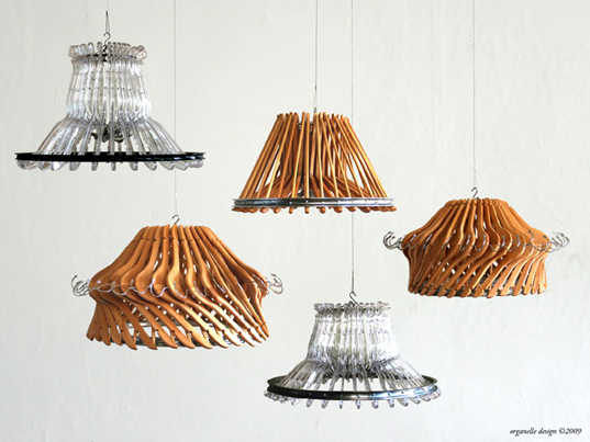 Hangeliers: Clothes Hanger Chandeliers by Organelle Design
