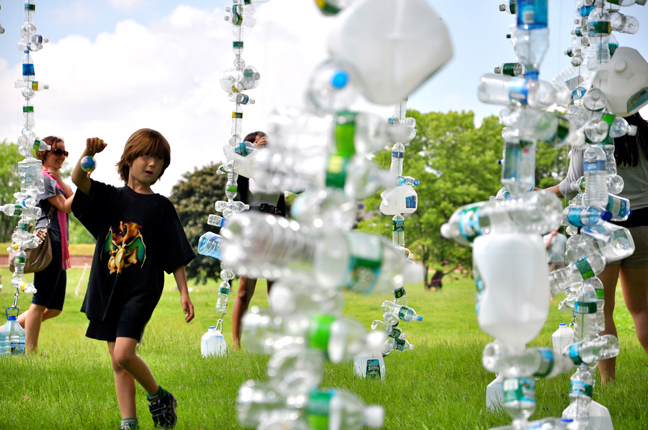 Watershed: Recycled Bottle Eco Art Hits Age of Stupid Premier