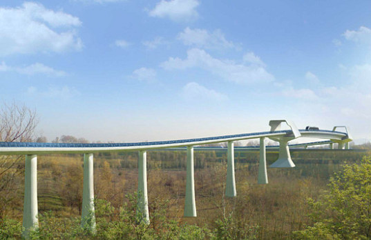 bologna, italy, monorail, photovoltaic system, solar panels, solar powered monorail, airport transportation, people mover, energy belt
