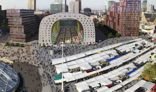 MVRDV, Provast, Market Hall, Rotterdam, public market, mixed-use development,