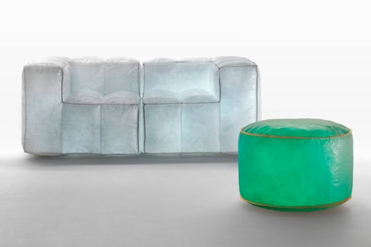 Recycled Fiber Furniture Filled With Air. Design