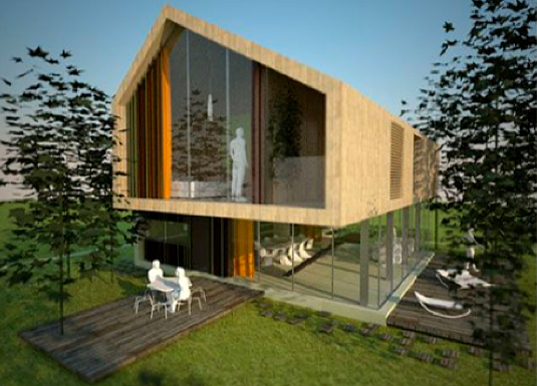 Eco-friendly Residential Prototype House AKA Architetti Italian Architecture Green Home Prototipo di Casa Unifamiliare