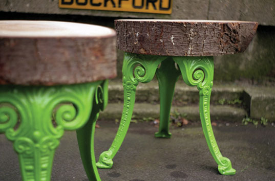 Lost found upcycled furniture inhabitat green design for Upcycled tree stumps