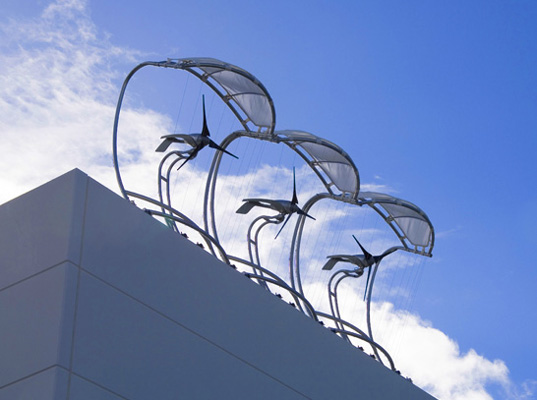 Modular architectural wind microturbines take off Wind architecture