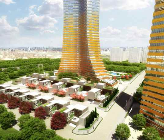 turkey, istanbul, green development, RMJM, varyup, mixed-use development, wind power, rainwater collection, residential, financial district, LEED