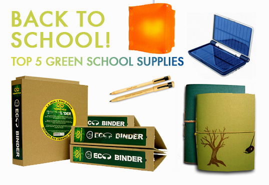 Back To School Green Office Supplies Recycled Materials Sustainable Inhabitat Design Innovation