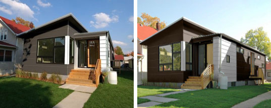 Prefab friday b line small by hive modular inhabitat for Roof over mobile home plans