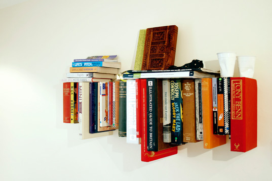 Book Shelf Made From Books